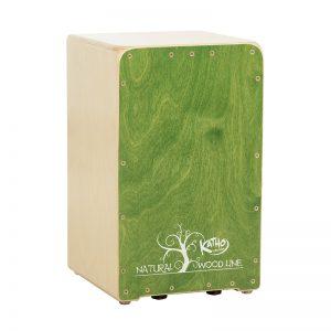 cajón flamenco Wood line verde Katho Percusión